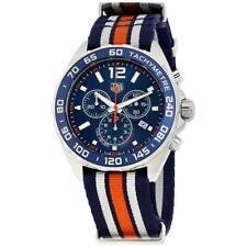 Tag Heuer Para Hombre CAZ1014.FC8196 fórmula 1 Cronógrafo Reloj De Nylon Blanco Azul