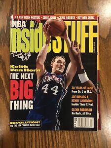 Vintage March 1998 NBA Inside Stuff Magazine (Van Horn Cover) + Dr. J Poster!