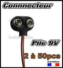 997C# connecteur pour pile 9V (6F22) de 2 à 50pcs