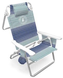 Caribbean Joe Deluxe Beach Chair Reclinable WC multiple colors