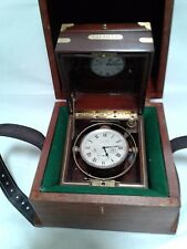 Chronometer Waltham 8 day deck watch in both boxes