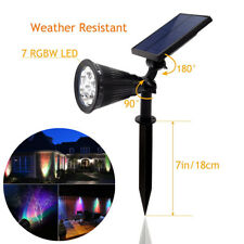 Solar Powered 7 LED Spotlight 7 Color Changing Wall lights Garden Outdoor Party