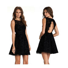 Alice + Olivia Dress Natalia Black Sleeveless Velvet Lace Size 2 MSRP $440