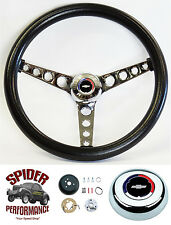"1958-1963 Impala Biscayne steering wheel CLASSIC BOWTIE CHROME 14 1/2"""