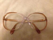 Silhouette 1970's Sunglasses/eyglasses frames peach & clear w/ gold 58-14-135