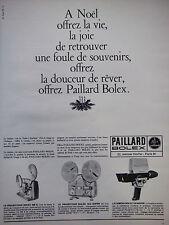 PUBLICITÉ DE PRESSE 1966 PAILLARD BOLEX PROJECTEUR ET CAMÉRA - ADVERTISING