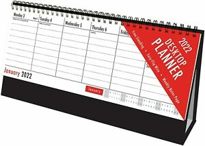 2022 DESKTOP PLANNER STANDING WEEK TO VIEW EASY FLIP STAND UP OFFICE HOME 3049