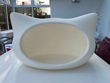 VERY RARE WHISKAS STYLE CAT BED IGLOO WHITE PLASTIC - HIGHLY COLLECTIBLE