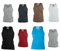 New Men's Designer 'Rockford' 'James' Casual Plain Summer Gym Holiday Vest Top