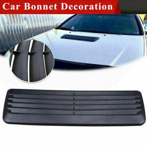 Universal Car Decoration Air Intake Vent Cover Trim Hood Sticker Black
