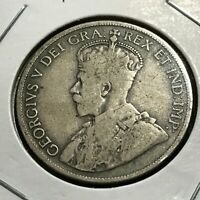 1917 NEWFOUNDLAND CANADA SILVER 50 CENTS BETTER COIN