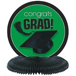 """Graduation TABLE CENTERPIECE HONEYCOMB """" CONGRATS """" Grad Party Decoration 5-3D"""