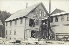 REAL PHOTO,BRADFORD,VT. SASH AND BLIND SHOP,BURNED IN 1912, 7 IDENTIFIED WORKMEN