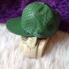 VANS 59 FIFTY trucker Baseball HAT Adjustable 7 1/4 Green Basket Weave NEW ERA