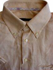 UNGARO camicia da uomo 15.5 M Arancione Pallido Manica Corta