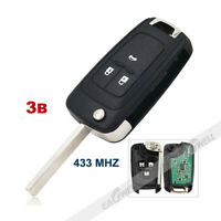 1x 3Button Remote Key Fob 433MHz ID46 Chip For Chevrolet Orlando Cruze 2011-2019