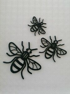 Manchester bee Family wall art decoration Worker Bee choice of colours set of 3