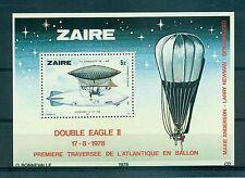 AVIATION - DOUBLE EAGLE II ZAIRE 1978 Aviation History block