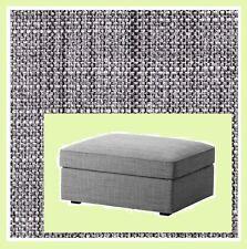 IKEA Kivik Ottoman with Storage Cover Isunda Gray Footstool Slipcover NEW Grey