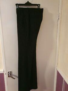 Topman Men's Ultra Skinny Crop Black Trousers UK Size 32 R