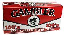 50 Boxes GAMBLER Regular Red Full Flavor 100's Filter Tubes/200ct per Carton