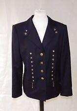 Escada Margaretha Ley Navy Wool Blazer/Jacket w/ Gold Tone Buttons Size 40/UK14