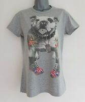 IMPERIAL Women's Grey Cotton Tee T-Shirt Top. Short Sleeve. Size Small.