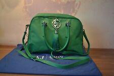 Genuine Green Leather AJ Armani Jeans Handbag with Blue Dust Bag