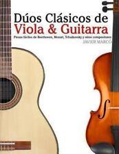Dúos Clásicos de Viola and Guitarra : Piezas Fáciles de Beethoven, Mozart,...