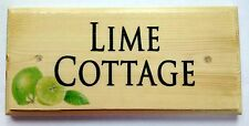 Personalised Lime House Name Or Number Plaque / Sign / Gift - Cottage Home Door
