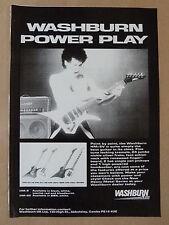 vintage magazine advert 1986 WASHBURN HM