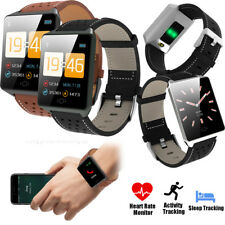Smart Watch Heart Rate Monitor Bracelet Termpered Glass Screen for Cellphones