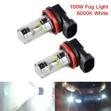 H16 LED Fog Light Bulbs H11 For Acura CSX RL RSX TSX 100W 2400LM 6000K White