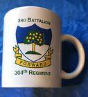 """Rare US Army 3rd Battalion 304th Regiment Coffee Mug Cup """"FORWARD"""" Mint & Unused"""