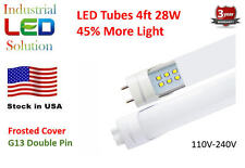 25-Pack Dual Row LED - 4Ft, 28W - 2900 Lumens, G13 Double Pin Connector, Frosted