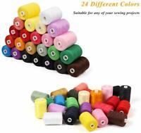 Cotton Sewing Thread-24 Colors 1000 Yards Cotton Thread Sets Spools Threads