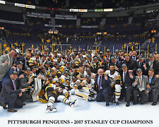 Pittsburgh Penguins 2017 Stanley Cup Champions Team Cup Photo - 8x10 Color Photo