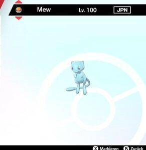 Shiny Mew Pokemon Schwert Schild LVL 100 *** 6DV! *** + Meisterball! ***