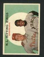 1959 Topps #317 Richie Ashburn/Willie Mays EX/EX+ N.L. Hitting Kings UER 122920