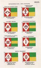 BRAZIL ARMY FLAGS. Armoured division. Corumba. Medical. Major/Brig.-General 1958