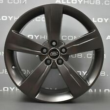 "GENUINE RANGE ROVER VELAR 5046 19"" INCH 5 SPOKE SATIN GREY ALLOY WHEELS X4"