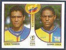 PANINI KOREA/JAPAN WORLD CUP 2002- #517-ECUADOR-EDWIN TENORIO / CLEBER CHALA