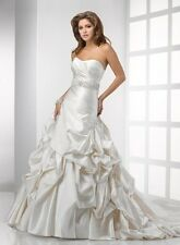 Sottero Midgley Haute Couture Bridal Gown White Wedding Dress Sz 12 NWT Kennedy