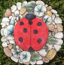 Lady Bug 1, stone or plaque concrete mold, cement, plaster, ceramic, mould