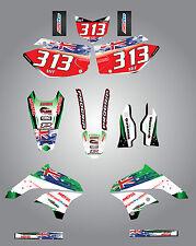 Full  Custom Graphic  Kit -AUSSIE PRIDE - KAWASAKI KLX 450 - 2008 / 2012
