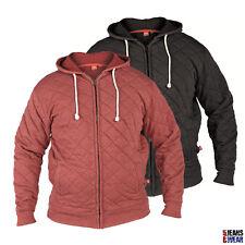 D555 Mens Branded Full Zip Quilted Hoody Big Size 1XL 2XL 3XL 4XL 5XL 6XL, BNWT