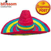 AS222 Festive Mexican Sombrero Costume Party Hat Rainbow Spanish Fiesta Western