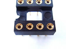 DIP8 8 Pin Gold-Plated Socket,For DIP-8 OP-AMP IC, x10