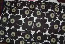 "Marimekko black white Mini Unikko OIL CLOTH fabric half yard 18"" x 56, Finland"