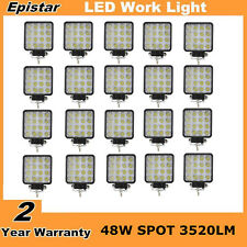 20X 48W Spot LED Work Light Lamp 12V 24V Off-road Driving Truck 4WD Jeep Square
